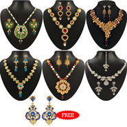 Kriaa Combo of 6 Jewellery Set With Free Earring