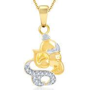 Sukkhi Lavish Gold and Rhodium Plated CZ God Pendant