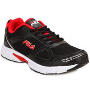 Fila Mesh Black Red Sport Shoes -fl02