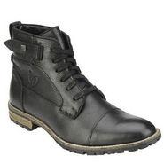 Delize Mild Leather Boots T-0010-Black