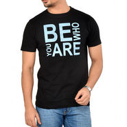 TSG Escape Round Neck Printed Cotton T Shirt For Men_Bewhoblk  -  Black