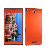 Snooky Mobile Skin Sticker For Sony Xperia C S39h 20807 - Orange