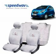 Speedwav Pure White Towel Cover(Split Seat)-Chevrolet Beat