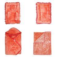 Wonderkids Baby Bedding Combo Gift Set - Orange Fur