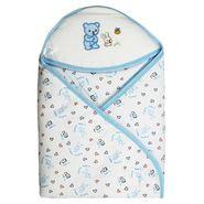 Wonderkids Blue Little Bunny Print Hooded Wrapper_BK-1340-BLBHW