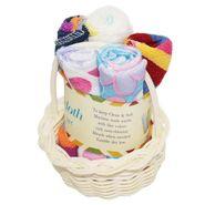 Wonderkids Multiprint Baby Basket Washcloth Set Of 5_WA-008-MPBWC