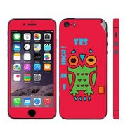 Snooky 28365 Digital Print Mobile Skin Sticker For Apple Iphone 5 - Rose Pink