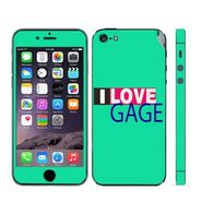 Snooky 28349 Digital Print Mobile Skin Sticker For Apple Iphone 5 - Green