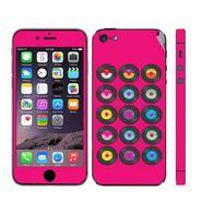 Snooky 28366 Digital Print Mobile Skin Sticker For Apple Iphone 5 - Pink