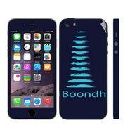 Snooky 28369 Digital Print Mobile Skin Sticker For Apple Iphone 5 - Blue