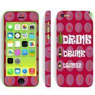 Snooky 28373 Digital Print Mobile Skin Sticker For Apple Iphone 5C - Pink
