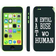 Snooky 28374 Digital Print Mobile Skin Sticker For Apple Iphone 5C - Multi