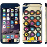 Snooky 28444 Digital Print Mobile Skin Sticker For Apple Iphone 6 Plus - Multi