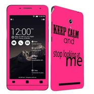 Snooky 27671 Digital Print Mobile Skin Sticker For Asus Zenfone 6 A600CG/A601CG - Pink