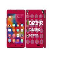 Snooky 27693 Digital Print Mobile Skin Sticker For Gionee Elife 5.1 - Rose Pink