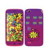 Snooky 27736 Digital Print Mobile Skin Sticker For Gionee Elife E3 - Purple