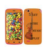 Snooky 27741 Digital Print Mobile Skin Sticker For Gionee Elife E3 - Orange