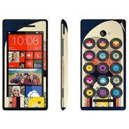 Snooky 28174 Digital Print Mobile Skin Sticker For HTC 8X C620E - Multi