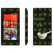 Snooky 28181 Digital Print Mobile Skin Sticker For HTC 8X C620E - Green