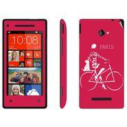 Snooky 28169 Digital Print Mobile Skin Sticker For HTC 8X C620E - Pink