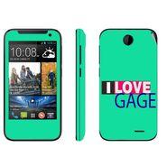Snooky 27804 Digital Print Mobile Skin Sticker For HTC Desire 310 - Green