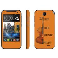 Snooky 27822 Digital Print Mobile Skin Sticker For HTC Desire 310 - Orange