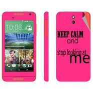 Snooky 28079 Digital Print Mobile Skin Sticker For HTC Desire 610 - Pink