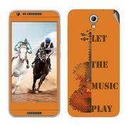 Snooky 28232 Digital Print Mobile Skin Sticker For HTC Desire 820 mini - Orange