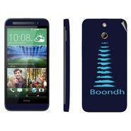 Snooky 28261 Digital Print Mobile Skin Sticker For HTC One E8 - Blue
