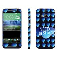 Snooky 28144 Digital Print Mobile Skin Sticker For HTC One M8 - Blue
