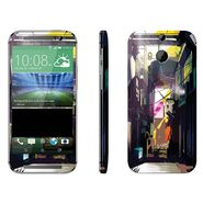Snooky 28148 Digital Print Mobile Skin Sticker For HTC One M8 - Multi