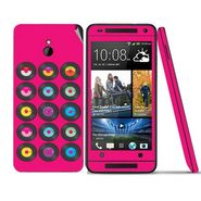 Snooky 28312 Digital Print Mobile Skin Sticker For HTC One mini - Pink