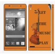 Snooky 28340 Digital Print Mobile Skin Sticker For Huawei Ascend P6 - Orange