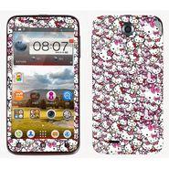 Snooky 38765 Digital Print Mobile Skin Sticker For Lenovo A850 - Pink