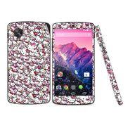 Snooky 38776 Digital Print Mobile Skin Sticker For LG Google Nexus 5 - Pink