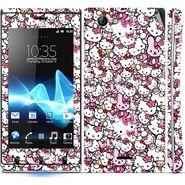 Snooky 38822 Digital Print Mobile Skin Sticker For Sony Xperia J - Pink