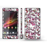 Snooky 38828 Digital Print Mobile Skin Sticker For Sony Xperia Z C6602 - Pink