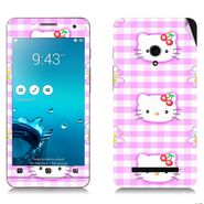 Snooky 38840 Digital Print Mobile Skin Sticker For Asus Zenfone 5 - Pink