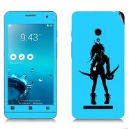 Snooky 38842 Digital Print Mobile Skin Sticker For Asus Zenfone 5 - Blue