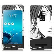 Snooky 38846 Digital Print Mobile Skin Sticker For Asus Zenfone 5 - Gray