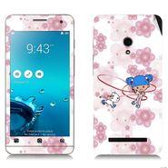 Snooky 38848 Digital Print Mobile Skin Sticker For Asus Zenfone 5 - White