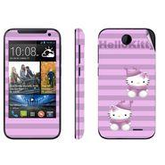Snooky 38911 Digital Print Mobile Skin Sticker For HTC Desire 310 - Purple