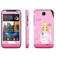 Snooky 38916 Digital Print Mobile Skin Sticker For HTC Desire 310 - Pink