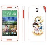 Snooky 38929 Digital Print Mobile Skin Sticker For HTC Desire 610 - White