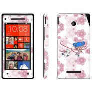 Snooky 38968 Digital Print Mobile Skin Sticker For HTC 8X - White