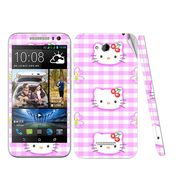 Snooky 38972 Digital Print Mobile Skin Sticker For HTC Desire 616 - Pink