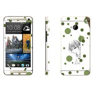 Snooky 39009 Digital Print Mobile Skin Sticker For HTC One M7 - White