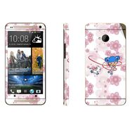 Snooky 39016 Digital Print Mobile Skin Sticker For HTC One M7 - White
