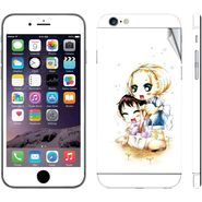 Snooky 39073 Digital Print Mobile Skin Sticker For Apple Iphone 6 - White