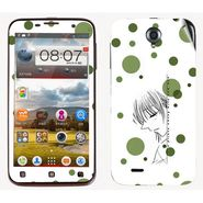 Snooky 39093 Digital Print Mobile Skin Sticker For Lenovo A850 - White